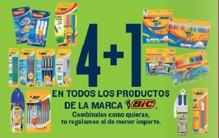 4+1 en productos Bic en Hipercor