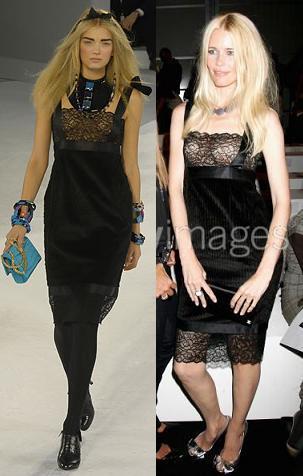 Claudia Schiffer y Kate Moss: las tops de Chanel