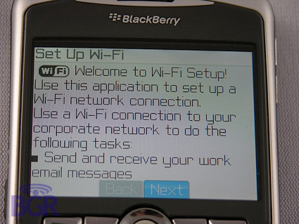 BlackBerry 8320 con WiFi