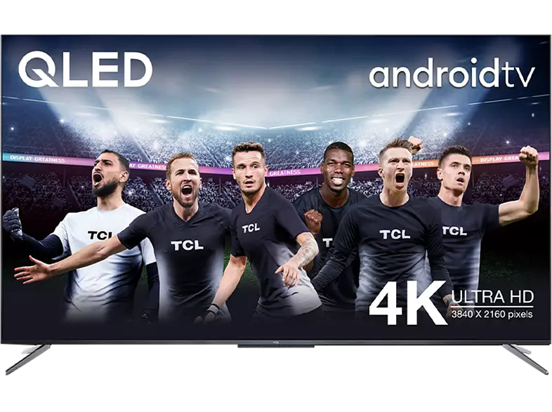 """TV QLED 55"""" - TCL 55C715, Smart TV 4K UHD, AndroidTV, Dolby Atmos, HDR10+, Google Assistant integrado"""