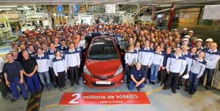 Dos millones de Toyota Yaris producidos en Francia