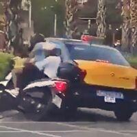Localizado el taxista de Barcelona que atropelló deliberadamente a dos motoristas y se dio a la fuga