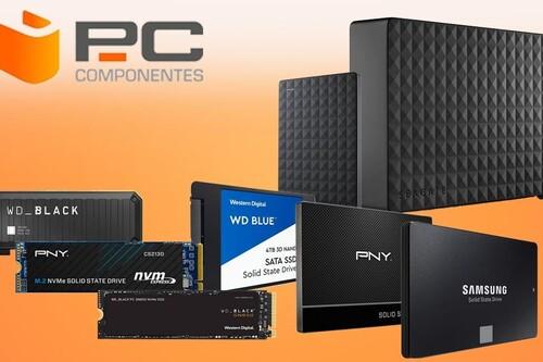 Ahorra con estos discos duros SSD, de sobremesa o portables en oferta en PcComponentes