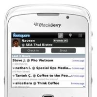 Foursquare 1.5 para BlackBerry ya disponible