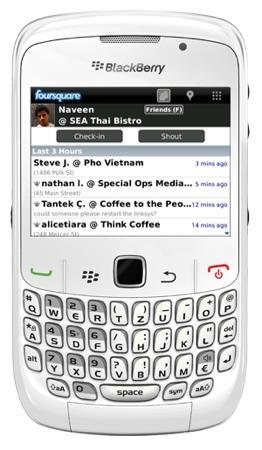 Foursquare 1.5 para BlackBerry ya disponible