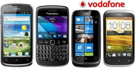 Precios del Nokia Lumia 610, HTC Desire C, Huawei Ascend G300 y Blackberry 9790 con Vodafone