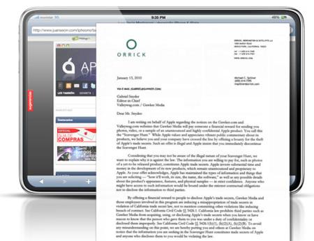 """Apple podría haber confirmado """"indirectamente"""" la existencia del Tablet con una carta de """"cese y desista"""""""