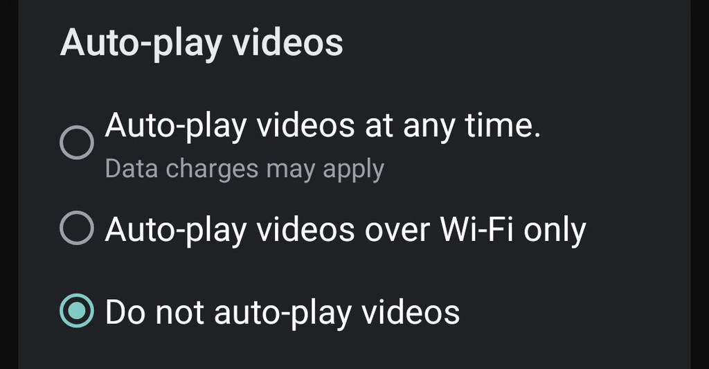 Google Play allows you to disable the new auto-play videos