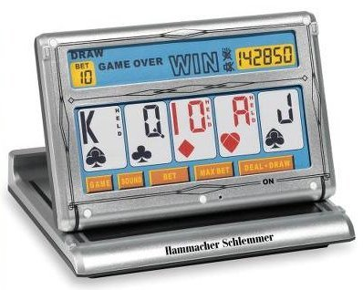 Portable Touchscreen Video Poker Game
