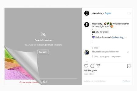 Lo bueno, lo malo y lo feo: Así es el nuevo sistema de bloqueo de contenido falso en Instagram