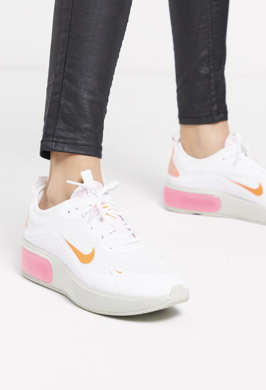Zapatillas en blanco, rosa y naranja Air Max Dia de Nike