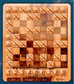 Kakuro: Juego para Dashboard similar al Sudoku