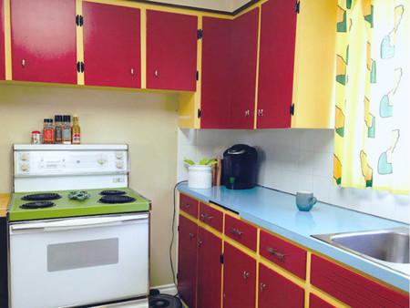 Una cocina redecorada como la de los Simpsons