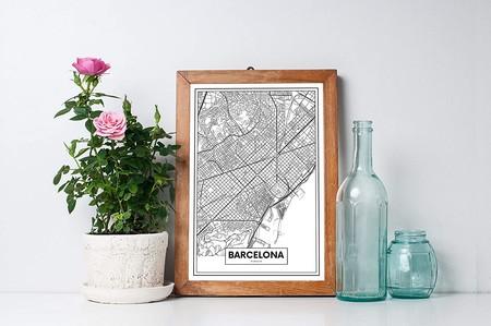 Plano de Barcelona para colgar