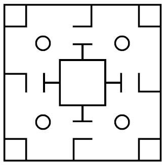 Liubo Game Board Pattern