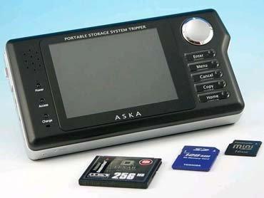Aska Tripper V: reproductor portatil de video y audio