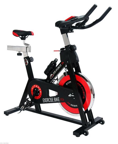 Bicicleta estática Fit-Force con volante de inercia de 24kg por 175 euros en eBay