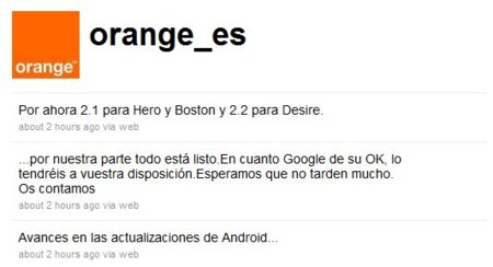 HTC Hero, Desire y Boston de Orange tendrán su actualización Android ¿cuándo Google quiera?