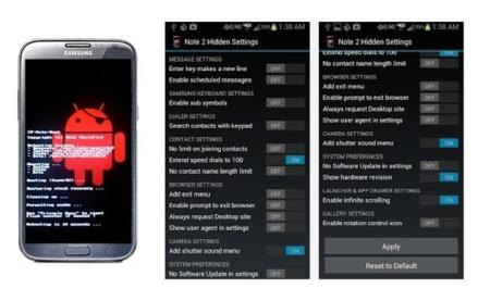 Note 2 Hidden Settings, aplicación con tweaks para tu Galaxy Note 2 y Galaxy S4
