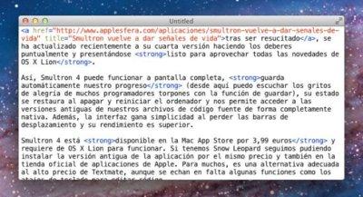 Smultron 4, el primer editor de código listo para exprimir OS X Lion al máximo