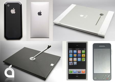 Se muestran imágenes de prototipos del iPhone y el iPad