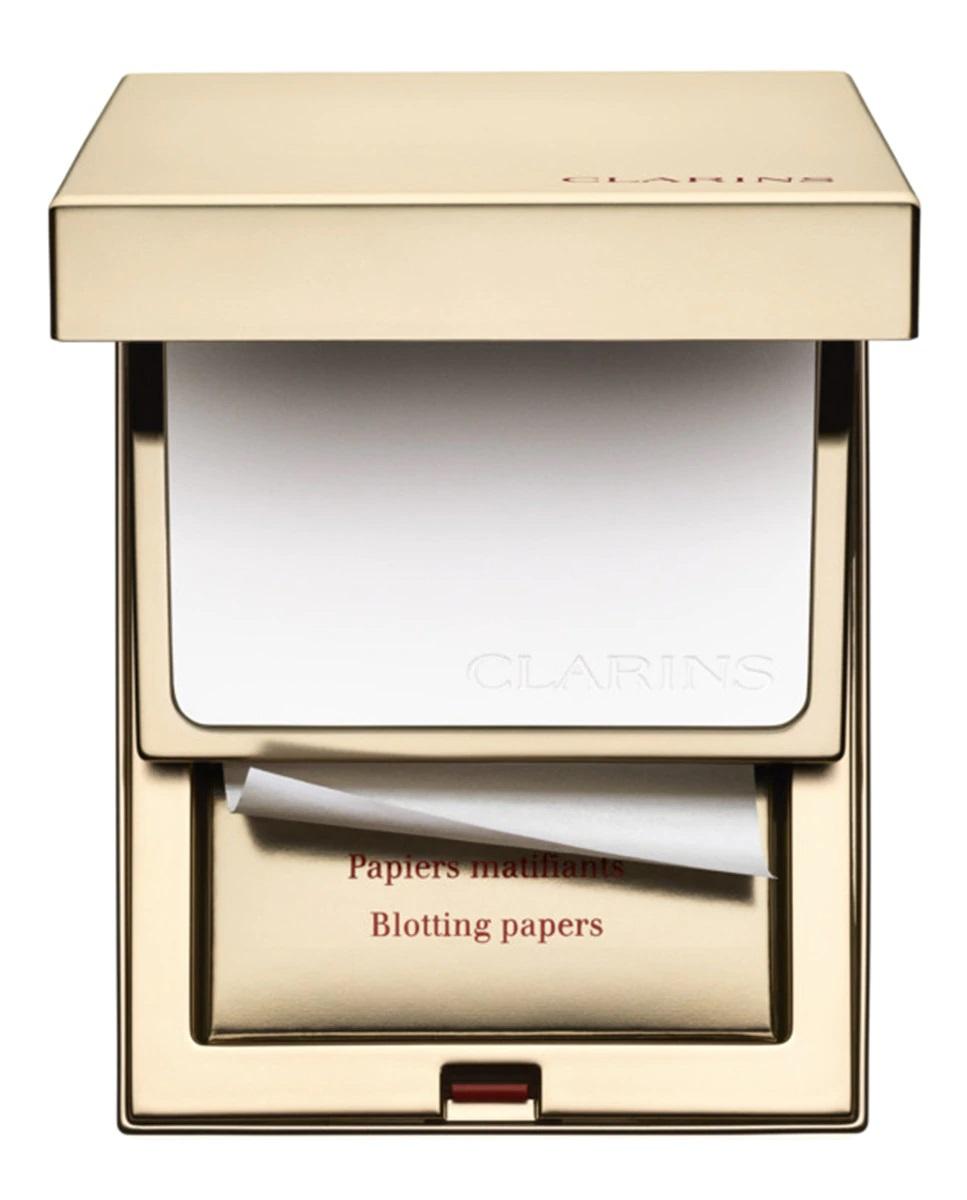 Kit de polvos translúcidos compactos y papel matificante de Clarins