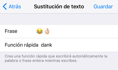 Sustitucion Texto Iphone