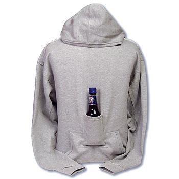 Sudadera con bolsillo para una botella
