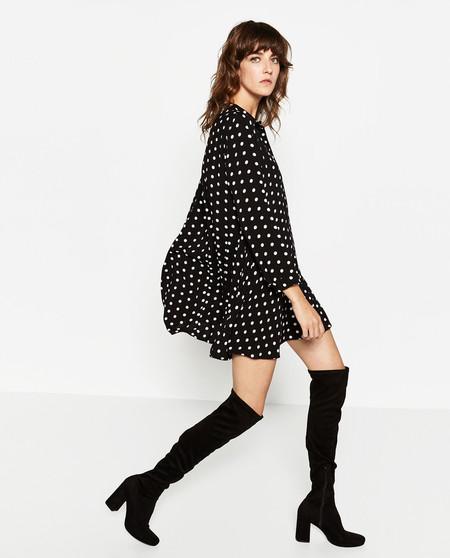 Zara Vestido Lunares Polka Dot Dress 2016 4