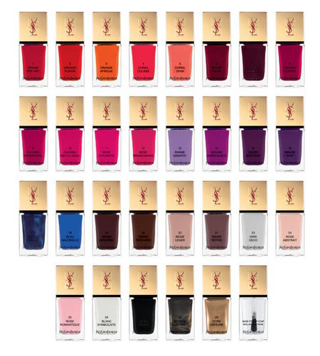 La Laque Couture Colour Collection de YSL