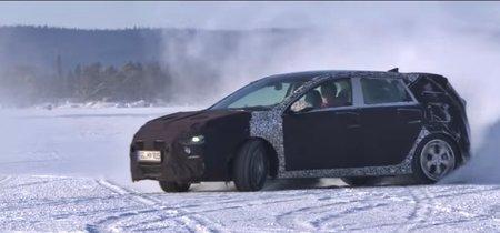 Melodía petrolhead: Thierry Neuville poniendo a punto el futuro Hyundai i30 N sobre hielo