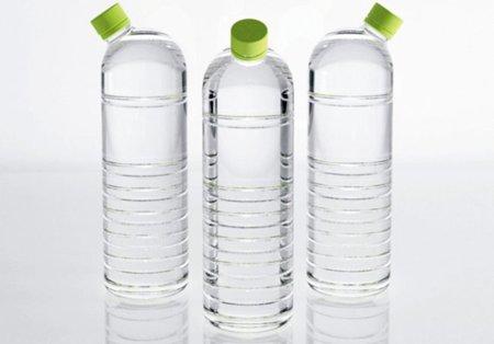 Botellas de agua con tapón lateral