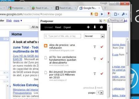 Postponer, la procrastinación de lecturas llega a Google Chrome