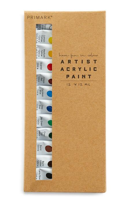 Artist Acrylic Paints Set 12 Pack Gbp3 Eur3 50