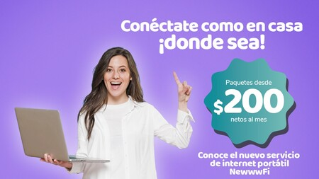 """El OMV Newww ahora ofrece """"internet para llevar"""" en México: red 4G en donde sea desde 10 GB por 200 pesos al mes"""