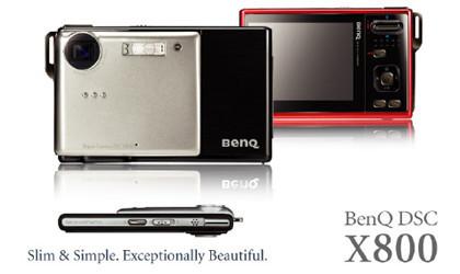 BenQ X800, la compacta más delgada del mundo
