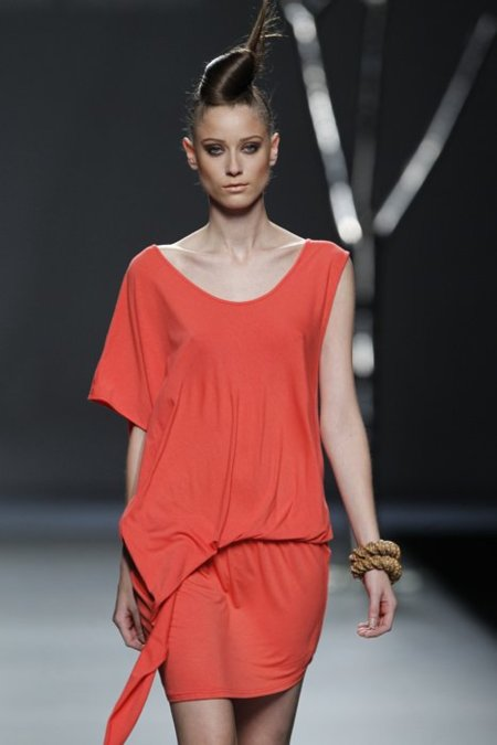 Color coral Sara Coleman Cibeles Madrid Fashion Week