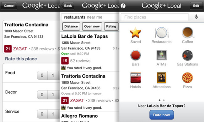 Google Places en iOS 6