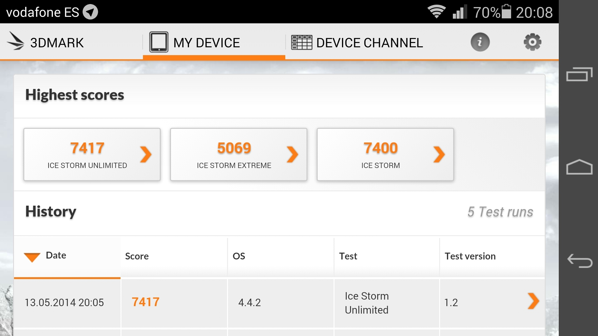 Benchmarks Huawei Ascend P7