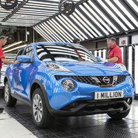 El Nissan Juke supera el millón de unidades producidas en la factoría de Sunderland, Inglaterra