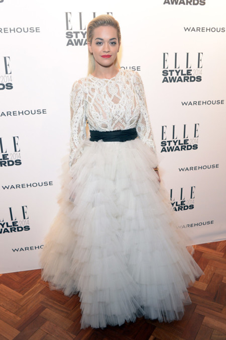 Rita Ora Marchesa Otoño/Invierno 2014-2015 Elle Style Awards 2014 red carpet