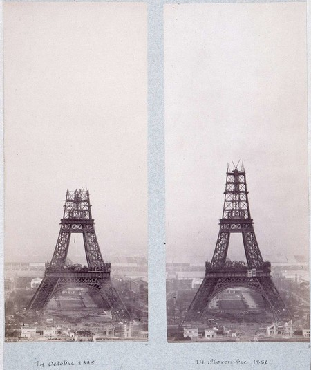 Public Domain Images Eiffel Tower Construction 1800s 0003