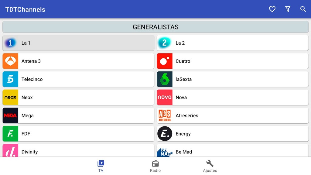 Cómo ver todos los canales de la tele en un Android TV con la app TDT Channels