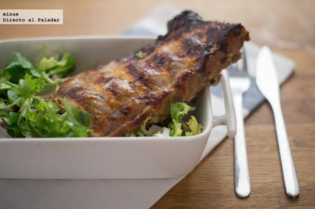 Costillas de cerdo con salsa de agridulce de melocotones - 1