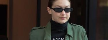 ¡A formar filas! Gigi Hadid se atreve con el look militar, dándole un toque sexy como ella sabe hacer