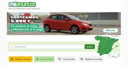 Captura de la web de Milanuncios
