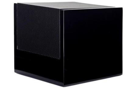 Este pequeño cubo es la apuesta de Martin Logan por los altavoces Dolby Atmos