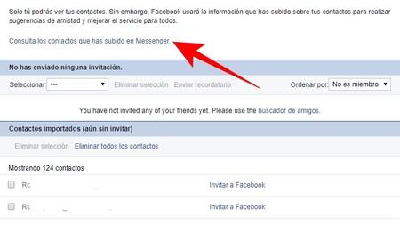 Consulta Contactos Messenger