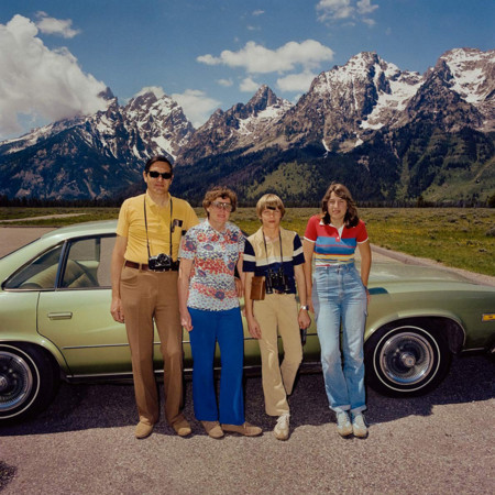 Family At Grand Tetons National Park Wy 1980