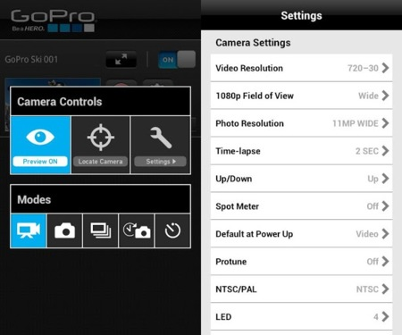 GoPro Android app
